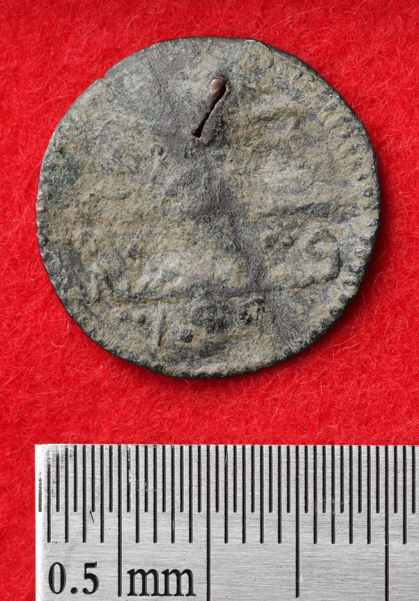 The front of one of the Roman coins found in Okinawa. Photo Credit: Uruma City Education Board/CNN.