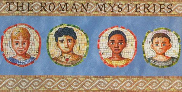 Standard illustration for teh Roman Mysteries novel series.