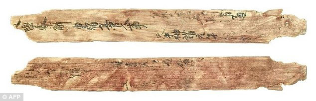 A wood strip more than 1,000 years old that was excavated in Japan's former capital Nara names a Persian official living in the country. Photo Credit: PHYS ORG.
