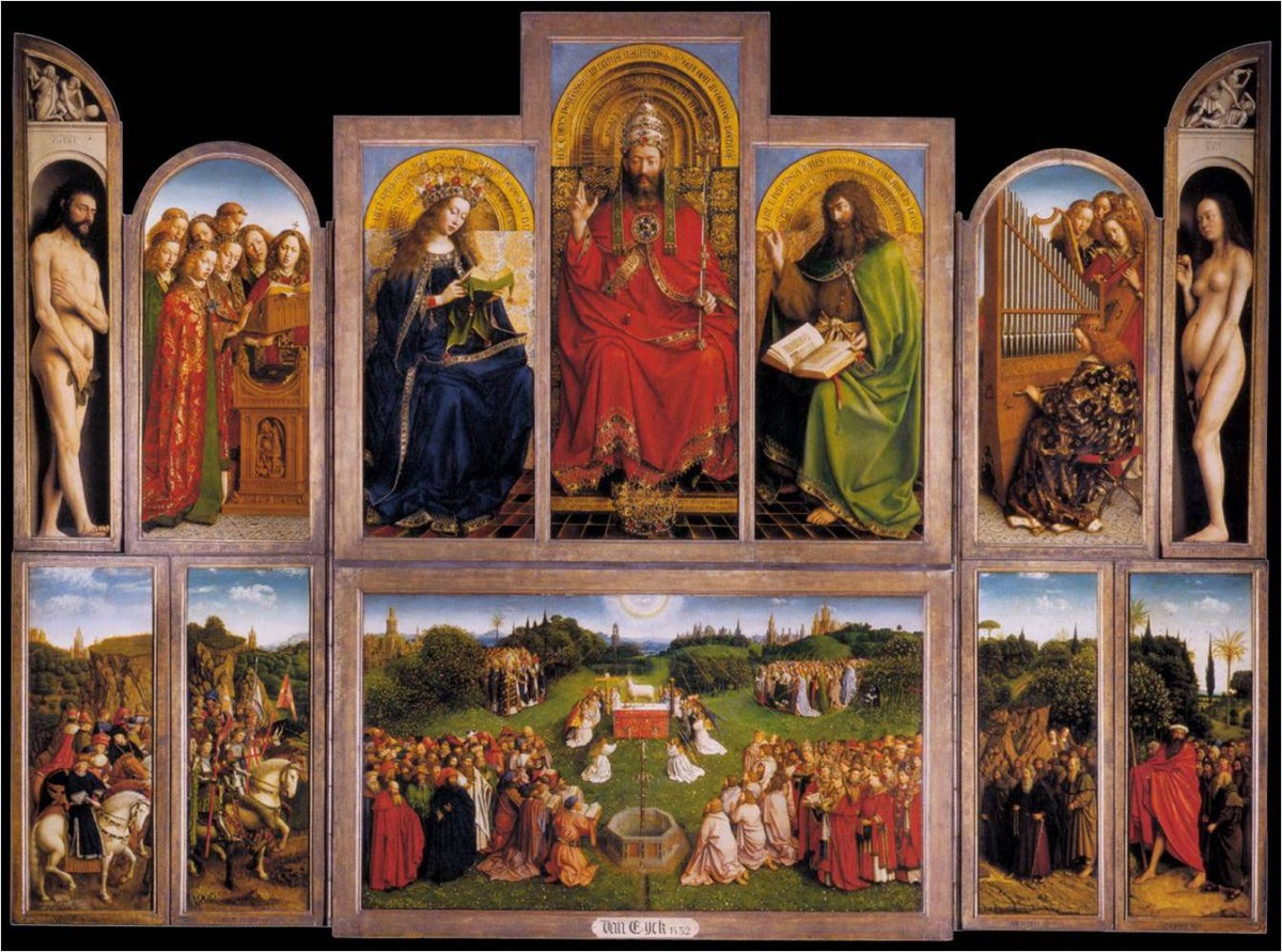 "Fig. 3. Jan Van Eyck, ""The polyptych of Ghent"", 1432. Cathedral of St Bavo."