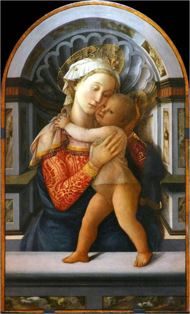 "Fig. 5. Fra Filippo Lippi, ""Virgin and Child"", c. 1459. Palazzo Medici-Riccardi, Florence."