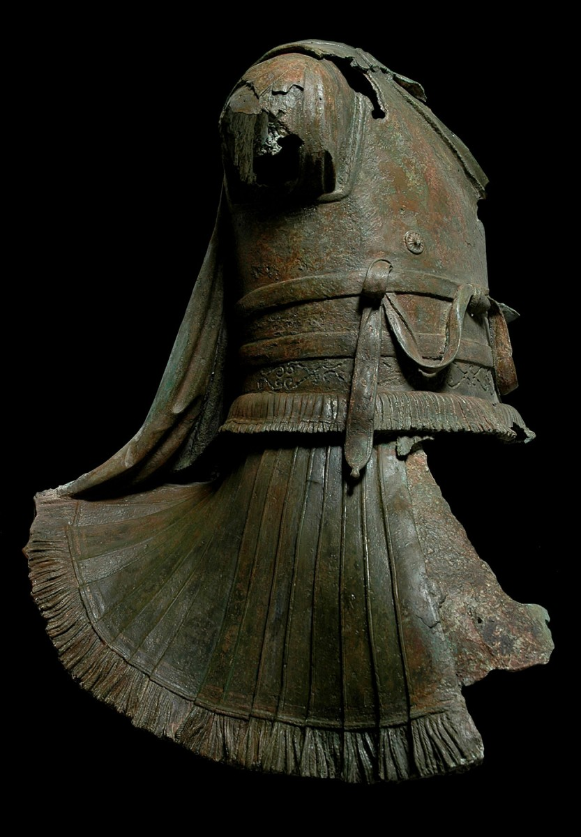 Bronze statue torso of a rider wearing a cuirass found in the sea south of the island of Kalymnos. 2nd cent. BC. Ephorate of Underwater Antiquities 2006/1.