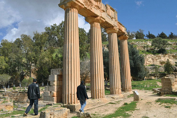 The archaeological site of Cyrene in northeastern Libya, a UNESCO World Heritage Site. Photo Credit: Kyodo News/Getty Images/IB Times.