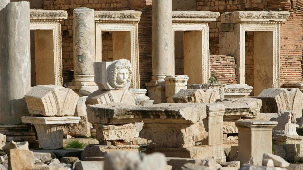 The Leptis Magna in Libya, a UNESCO World Heritage Site. Photo Credit: AFP/The Archaeology News Network.