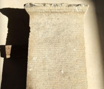 Marble tablet with rental agreement found in Turkey