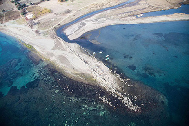 Aerial view of Teos. Photo Credit: DHA/Archaeology News Network.