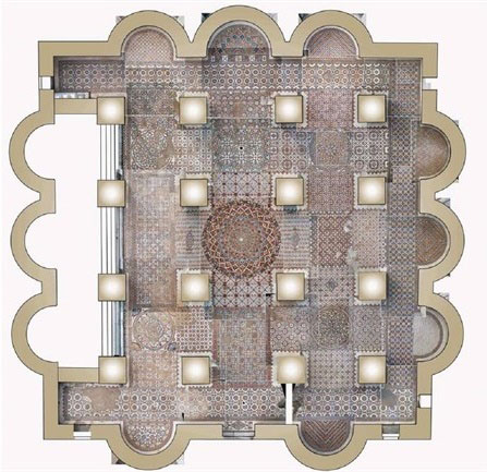 Plan of Hisham's Palace. Photo Credit: Palestinian Ministry of Tourism and Antiquities/TANN.