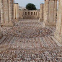 Huge mosaic revealed for a day in Jericho