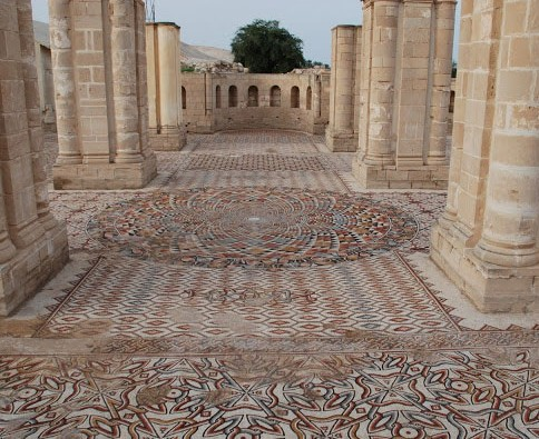 Mosaics at Hisham's Palace. Photo Credit: Palestinian Ministry of Tourism and Antiquities/TANN.