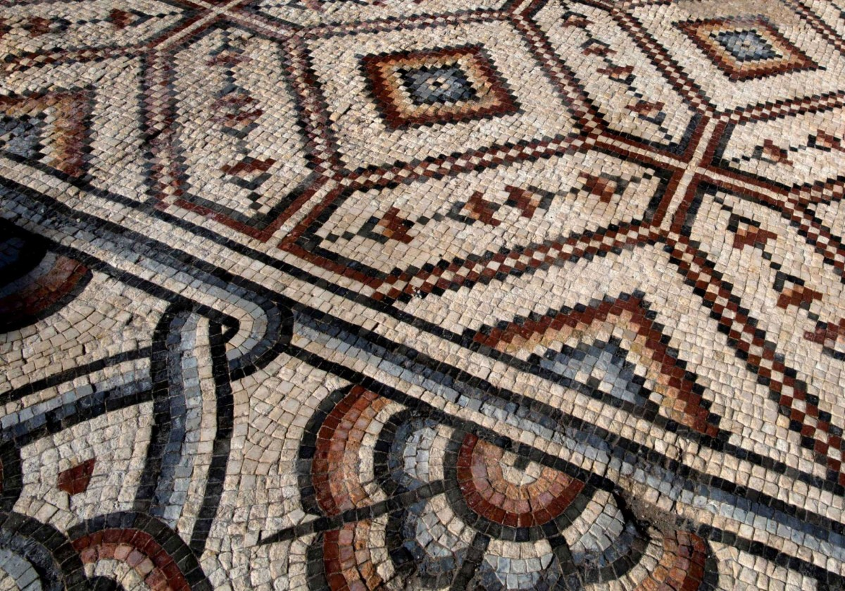 Mosaic Detail. Photo Credit: AP/Nasser Nasser/The History Blog.