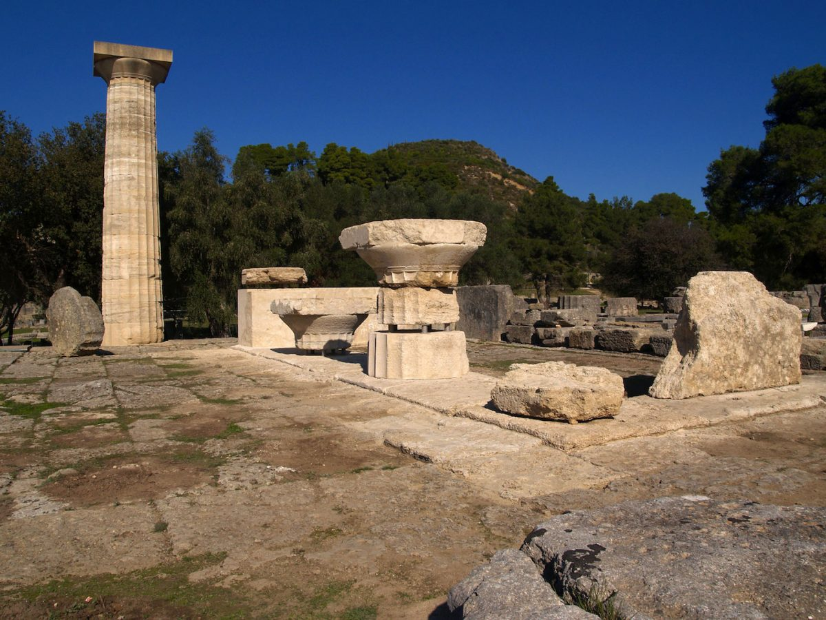 View of the Temple of Zeus at Olympia. Photo: R. Senff. (© DAI)