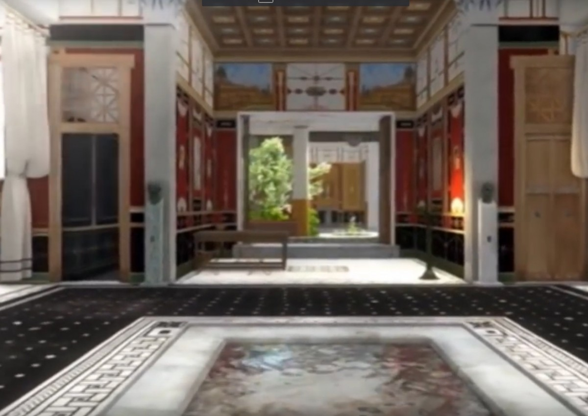 The big entrance room of Caecilius Iucundus's large house before the volcanic outbreak 2,000 years ago.