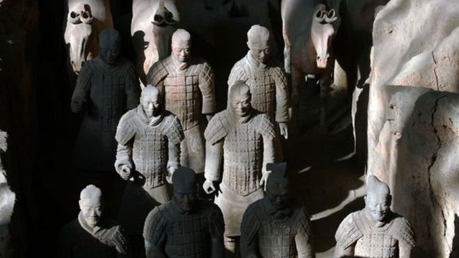 Greek artisans may have trained those who made the Terracotta Warriors. Photo Credit: Getty Images/BBC.