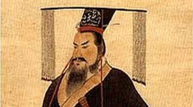 Qin Shi Huang lived between 259-210BC and became the first emperor of a unified China. Photo Credit: Public Domain/BBC.