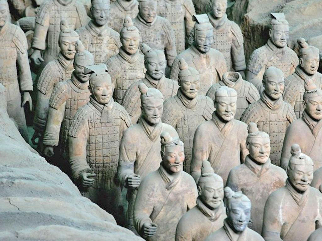 The Terracotta Army discovered in 1974 near Xi'an Photo Credit: Getty Images/The Independent.