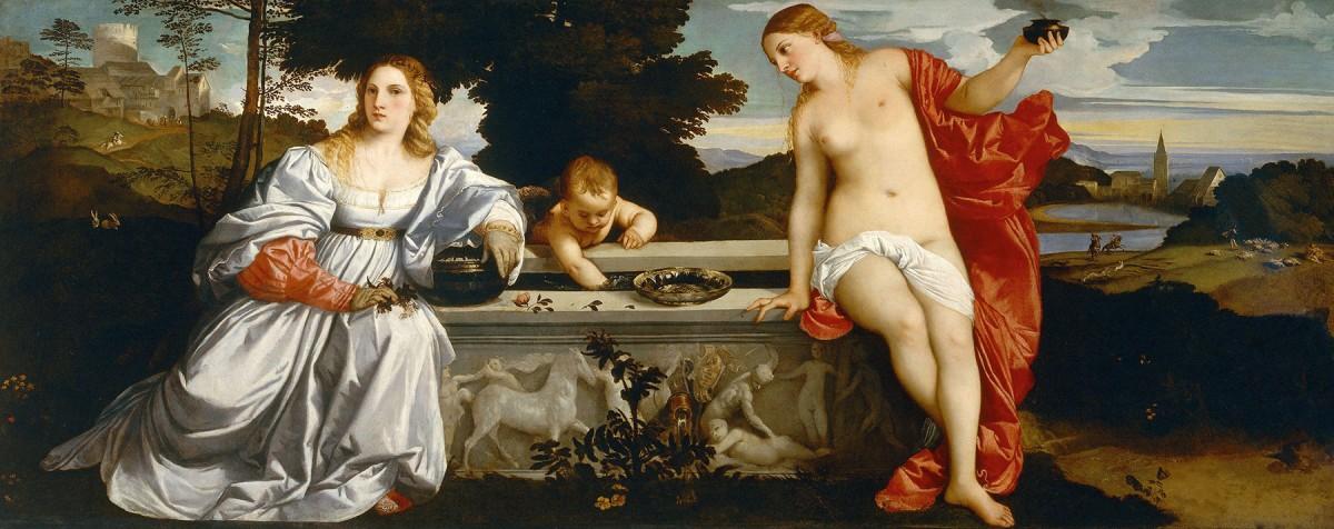 Titian, Sacred and Profane Love, c. 1514. Galleria Borghese, Rome.