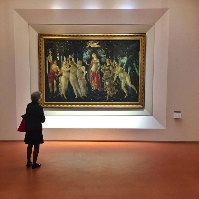 Spring, one of the two most significant works by Botticelli, which have been given more space since which crowds tend to congregate around them. Photo Credit: Mary Gray/The Florentine.