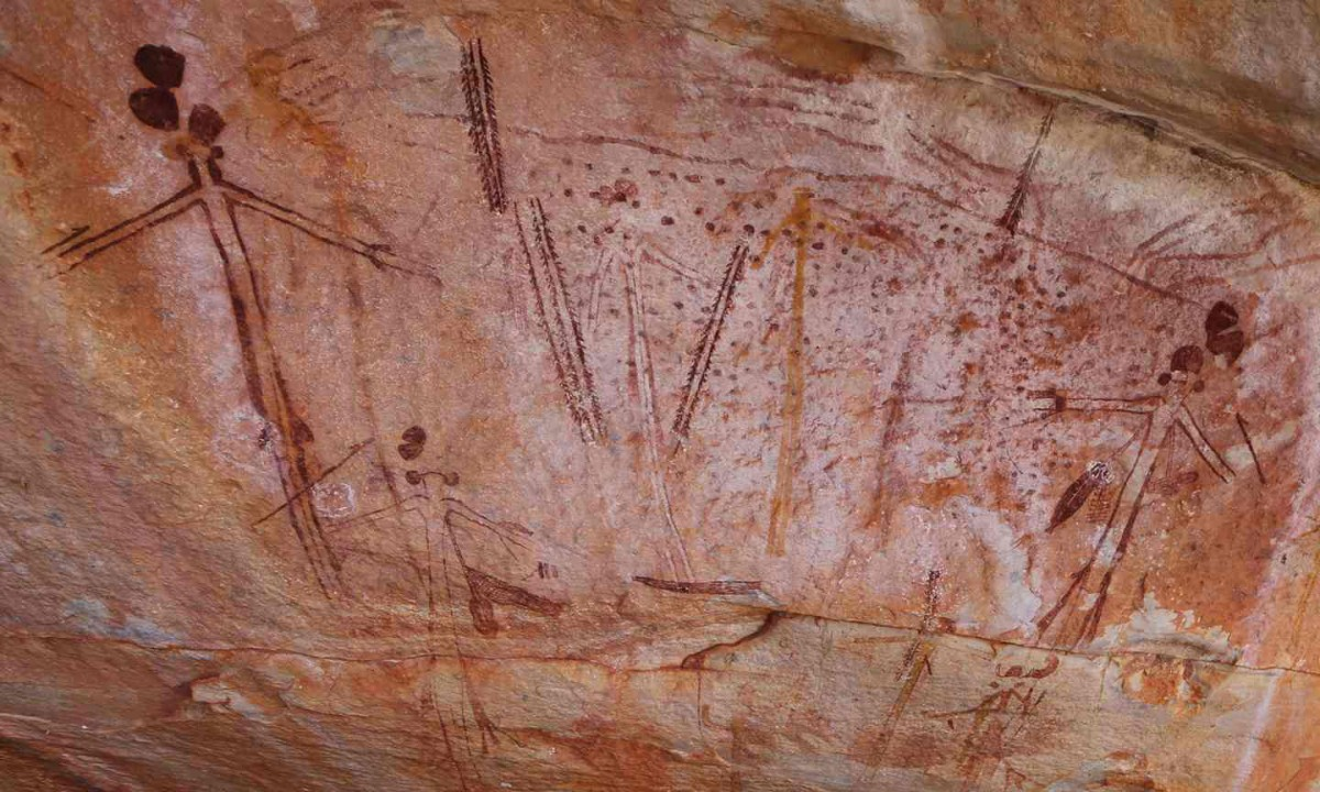 Indigenous rock art recorded at Camera Pool north of Wyndham in Balanggarra country of WA's Kimberley, as part of the Kimberley Visions research project. Photo Credit: Erin Parke/ABC News.