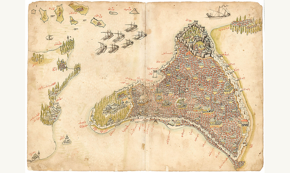 Kitab-i Bahriye (Book of the Sea) by Piri Reis, c. 1670, Ottoman Turkey. © Nour Foundation