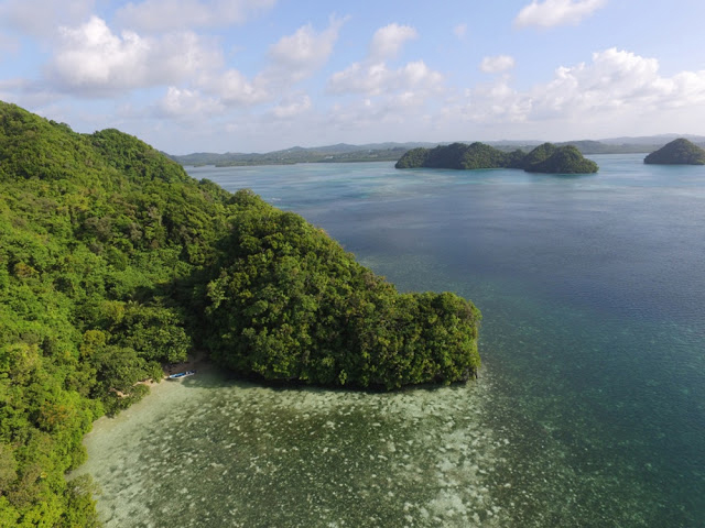 View of the northern Rock Islands of Palau.  [Credit: University of Oregon]