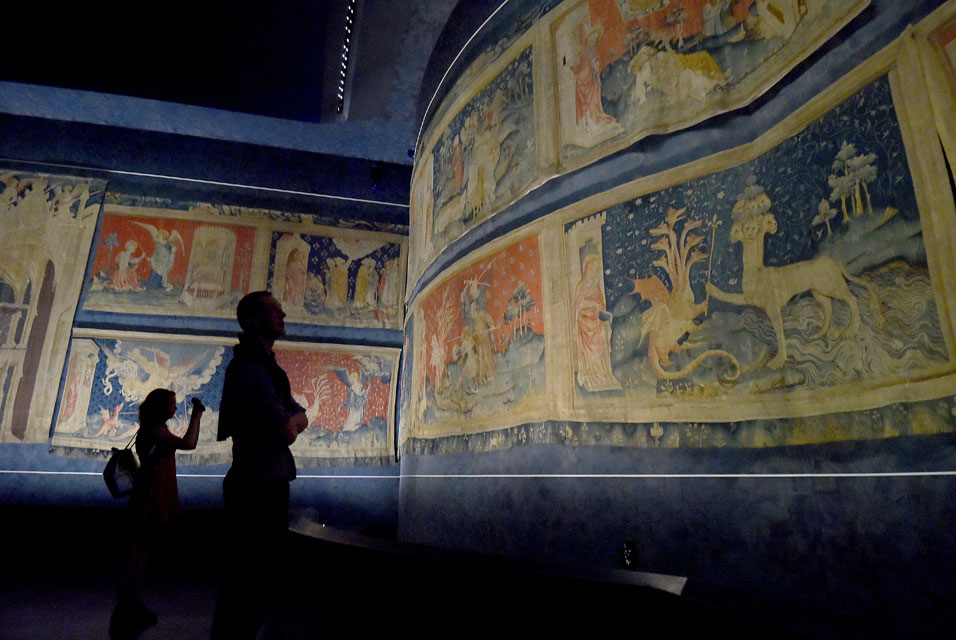 The Apocalypse Tapestry (1377–1382) on display, LOIC VENANCE / AFP.
