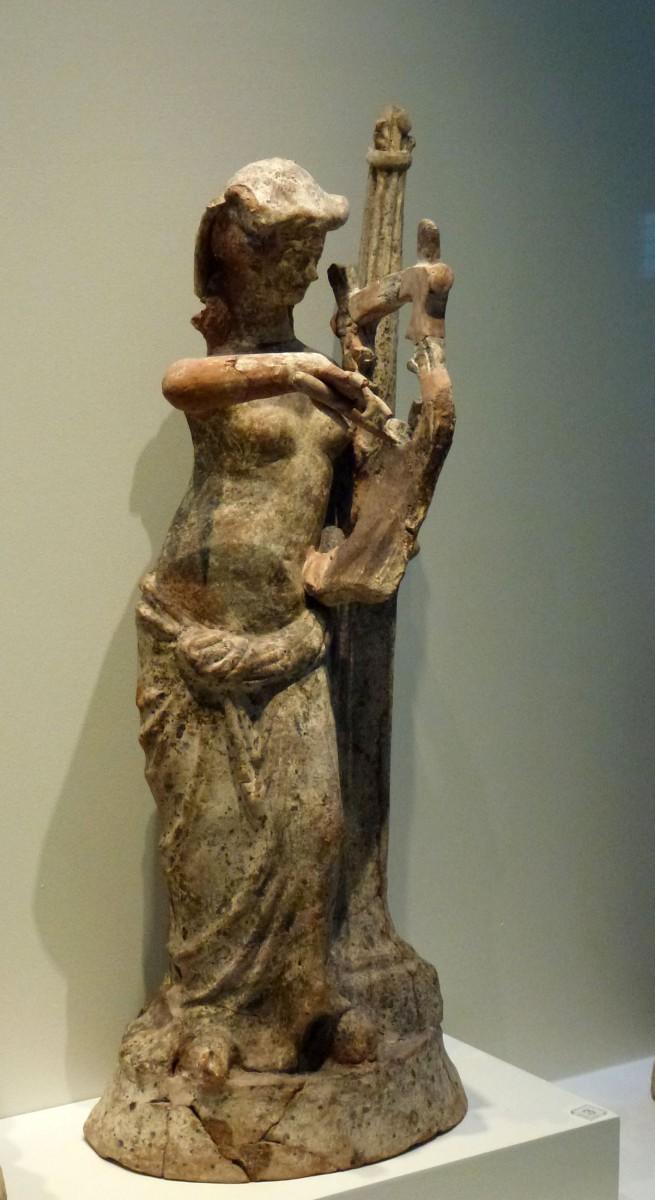 Aphrodite playing a kithara