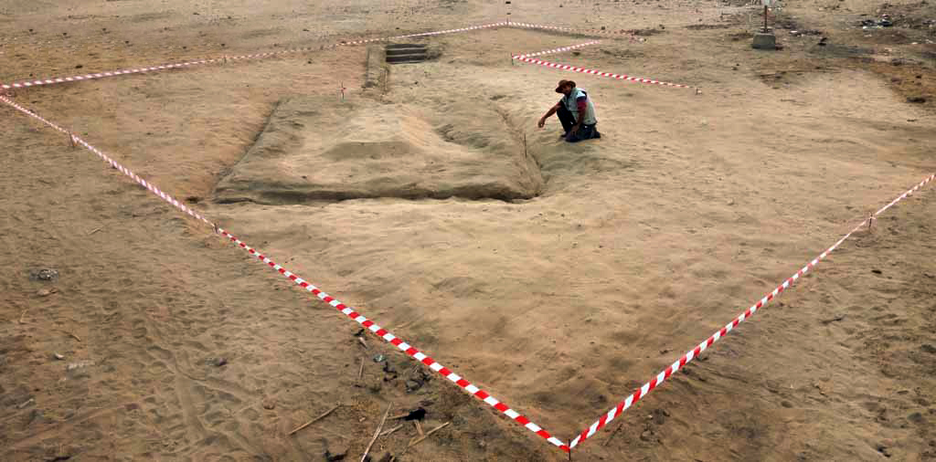 View of the recent excavations at Abydos. Courtesy of the Ministry of Antiquities.