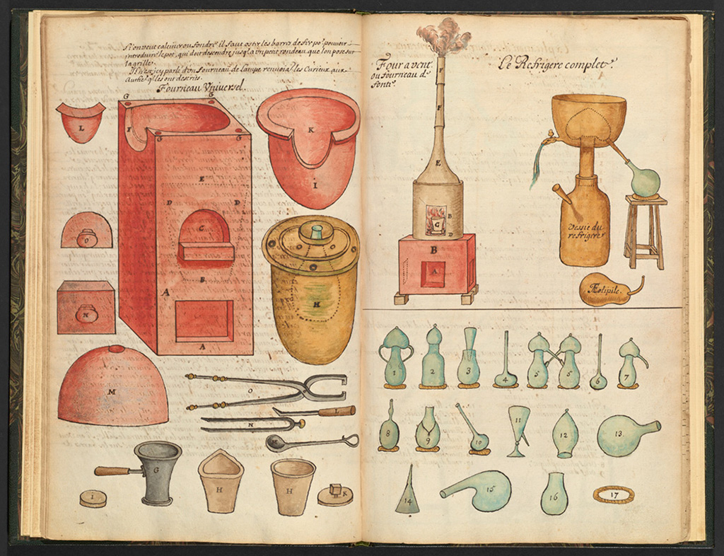 Alchemical Equipment, ca. 1700. From