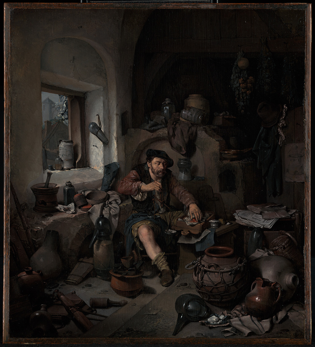 The Alchemist, Cornelis Bega, 1663. J. Paul Getty Museum, Los Angeles,