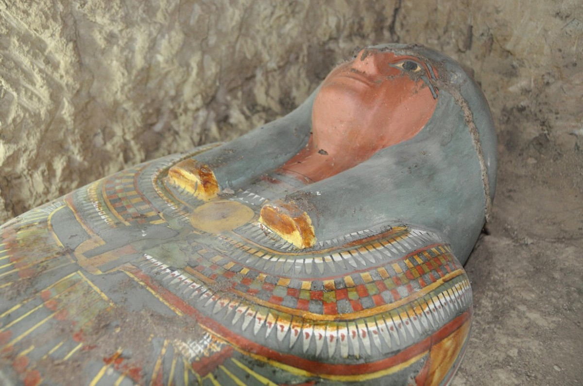 The cartonnage mummy. Credit: Egypt Antiquities Department