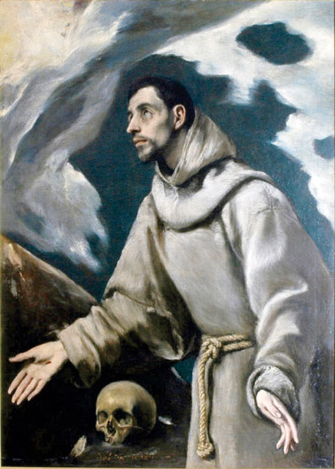 The Ecstasy of St. Francis, by El Greco, c. 1580, oil on canvas. National Museum of Krakow.