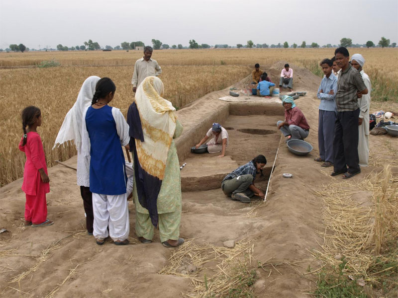 The Land, Water, Settlement project excavations in northwest India. Image: Cameron Petrie.