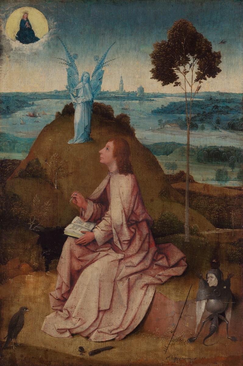 Hieronymus Bosch, St. John on Patmos, c. 1500. ©Staatliche Museen zu Berlin, Gemäldegalerie.