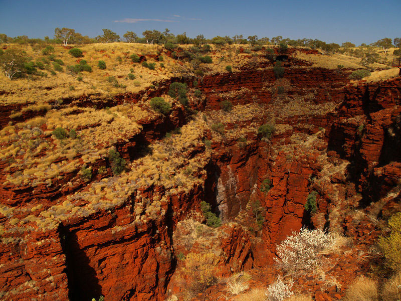 Karijini National Park, Australia. The ancient soils from Australia's Pilbara region (west of Karijini National Park) are similar to those found recently by the Mars rover Curiosity. Credit: © totajla / Fotolia