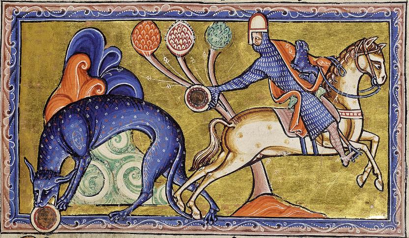 The Aberdeen Bestiary, folio 8r / Tigris (detail).