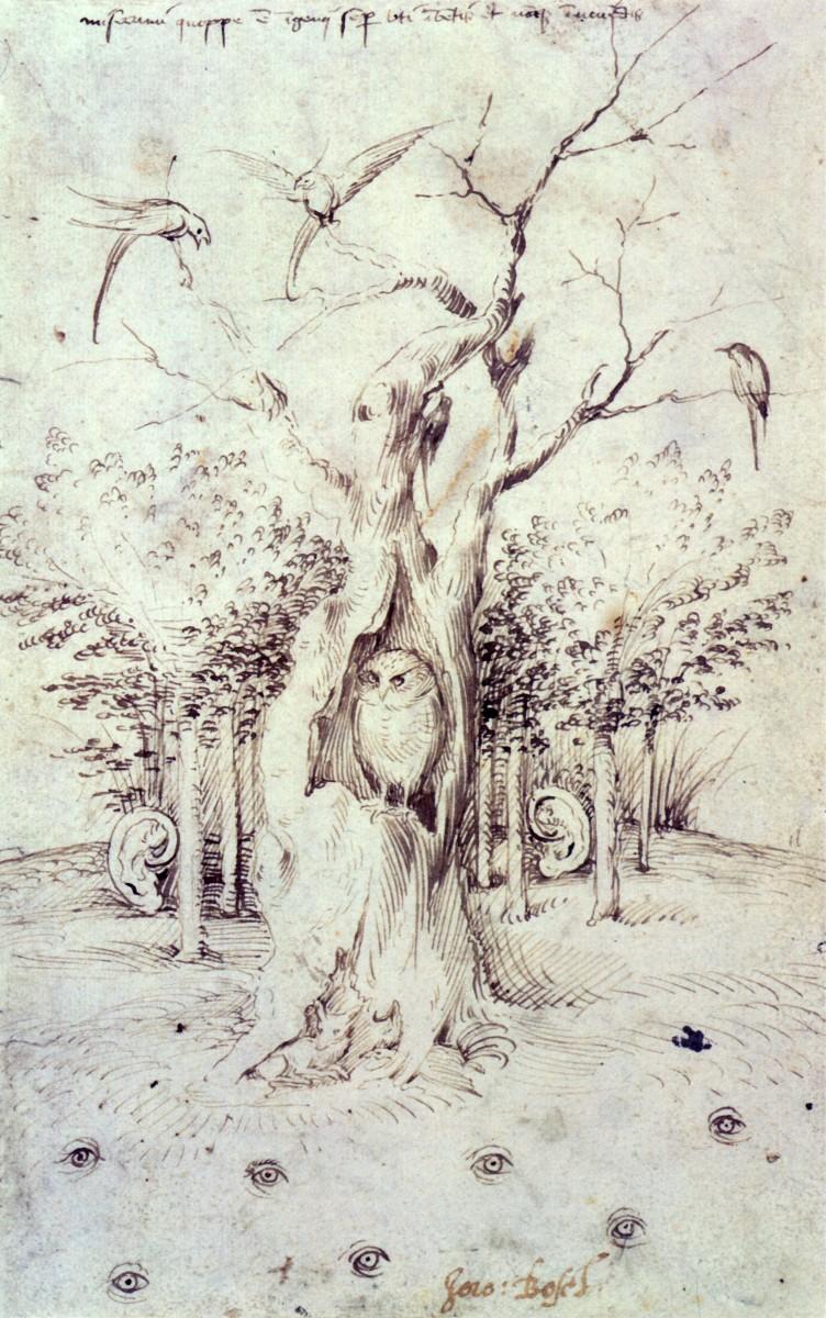 Hieronymus Bosch, The Field Has Eyes, The Wood Has Ears, c. 1500-05 ©Staatliche Museen zu Berlin, Kupferstichkabinett