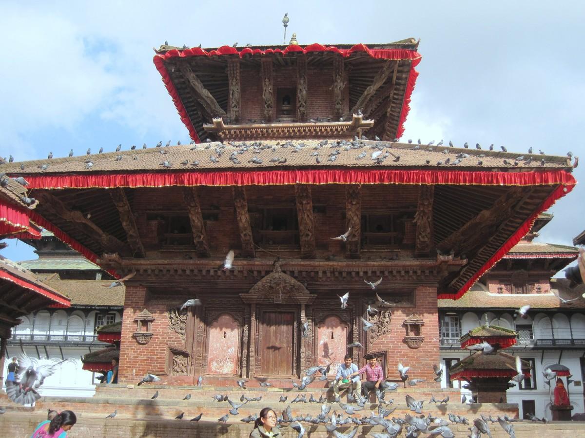Jagannath Temple of Hanuman-Dhoka Durbar Square. The photo was taken in 2014.
