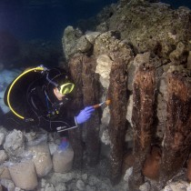 Underwater archaeological surveys of the ancient harbour at Lechaion