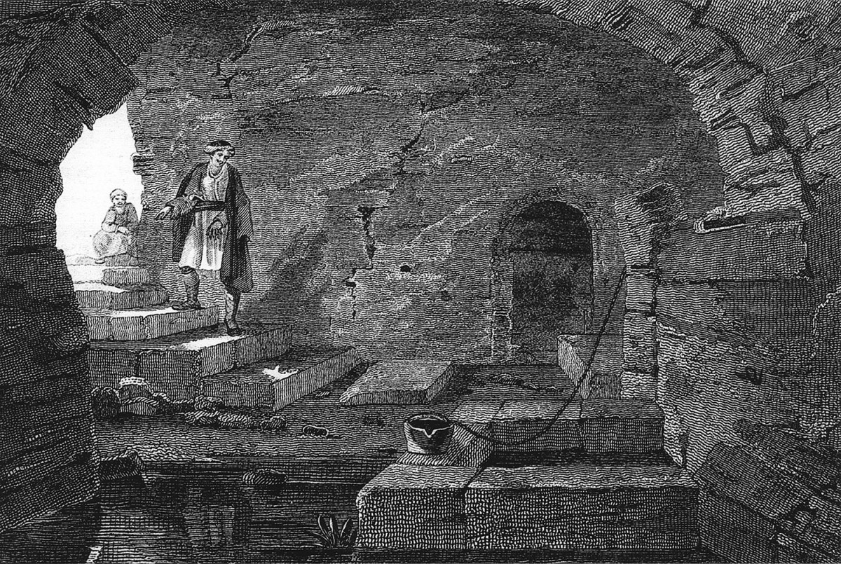 Patras, Sacred Spring of Demeter-Well of Saint Αndrew. Copperplate from the edition E. Dodwell, «A Classical and Topographical Tour through Greece», London 1819.