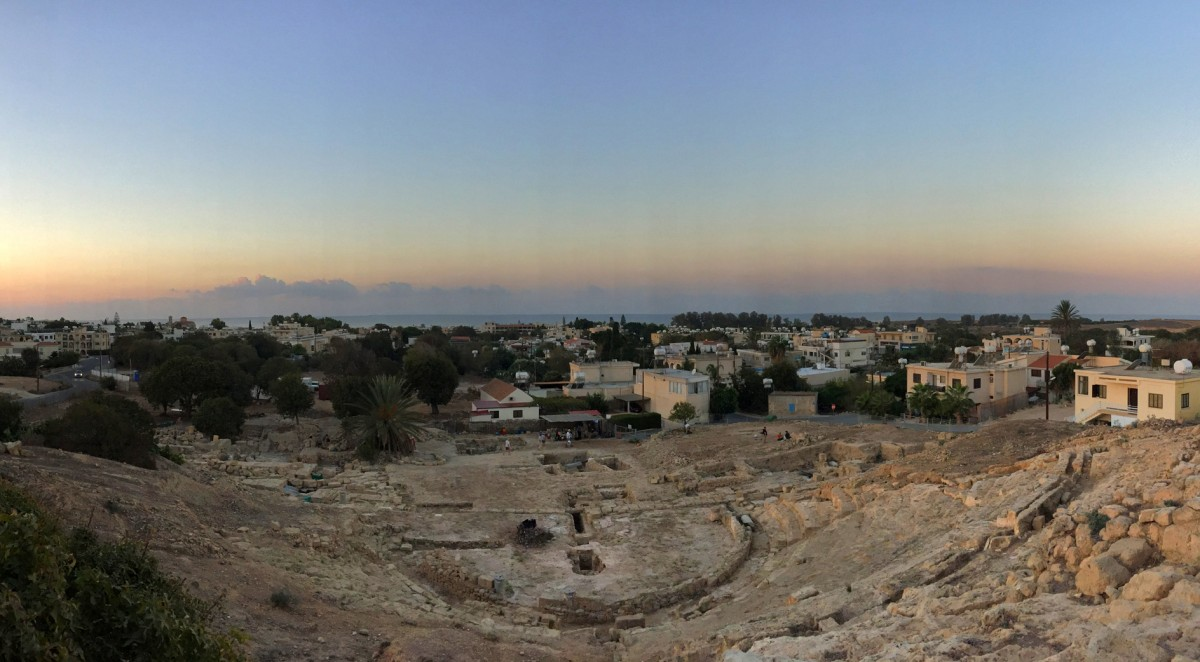 Pafos Theatre at sunrise. Photo credit: Department of Antiquties of Cyprus