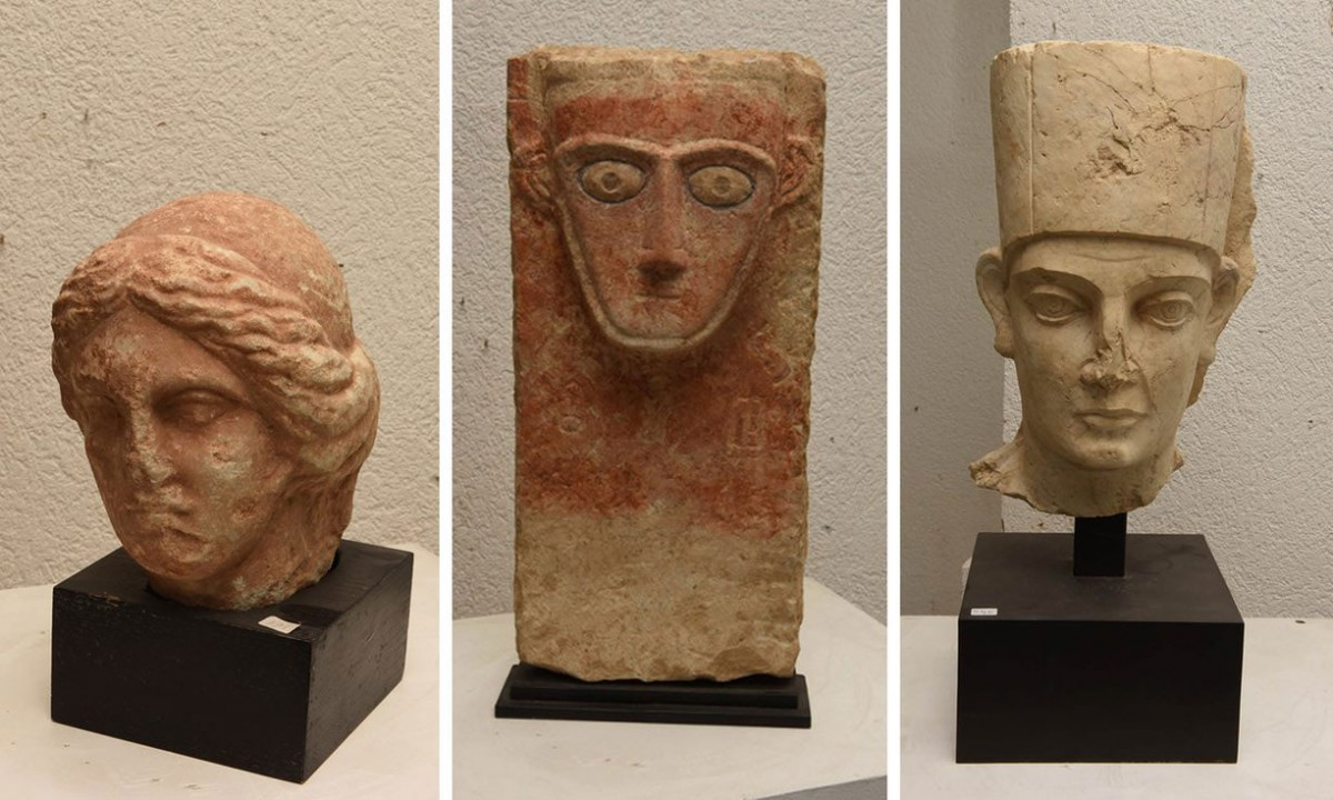 Swiss authorities have confiscated artefacts the Geneva prosecutor's office says were stolen  from Yemen, Libya and the ancient city of Palmyra in Syria. Photo Credit: TANN/AP.