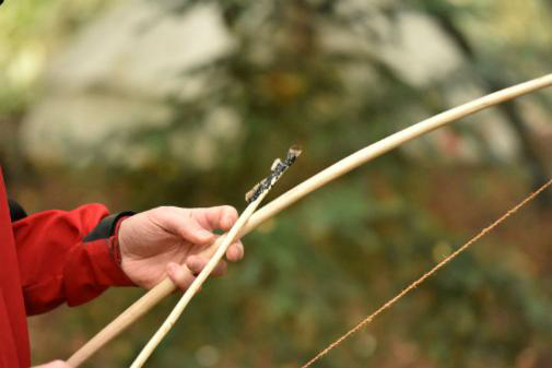 Masters students have made arrows using many traditional techniques.