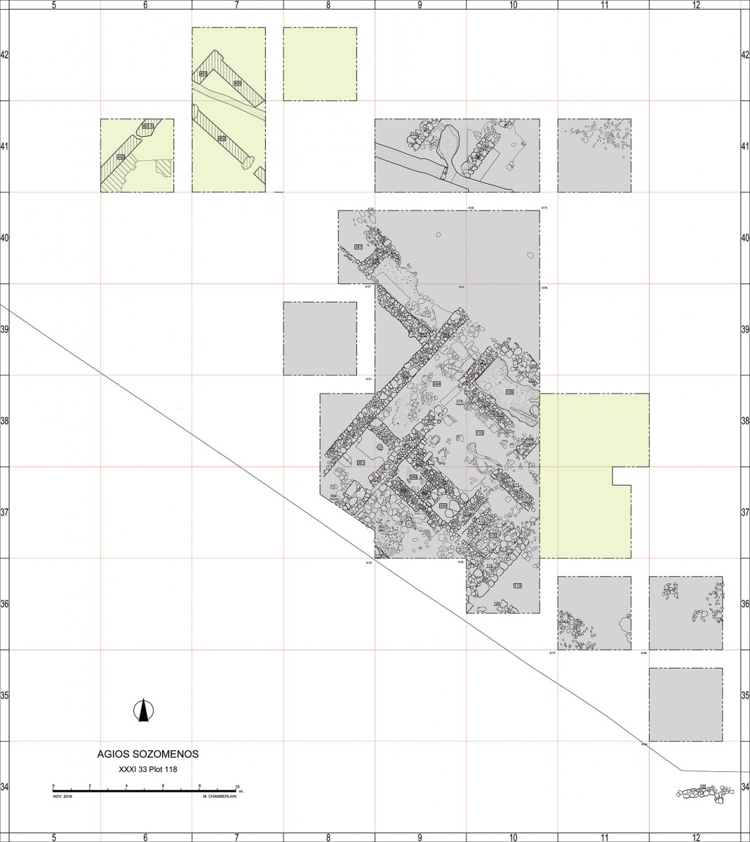 Plan of the Agios Sozomenos site. Photo credit: Department of Antiquities Cyprus