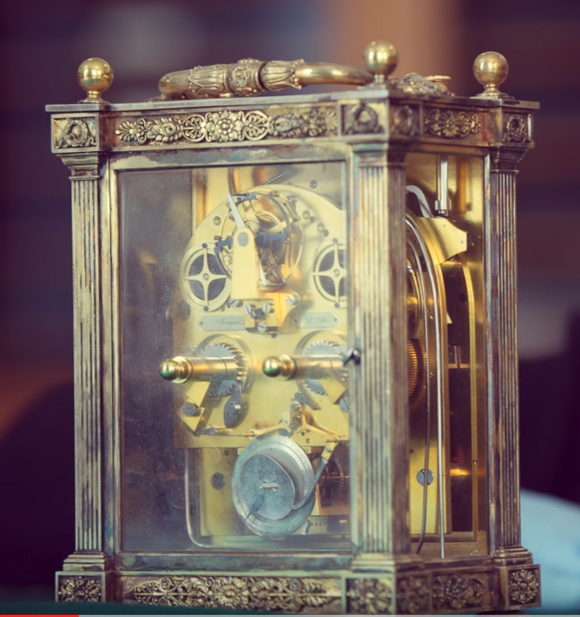 19th Century Silver-gilt carriage clock. Ashmolean Museum.