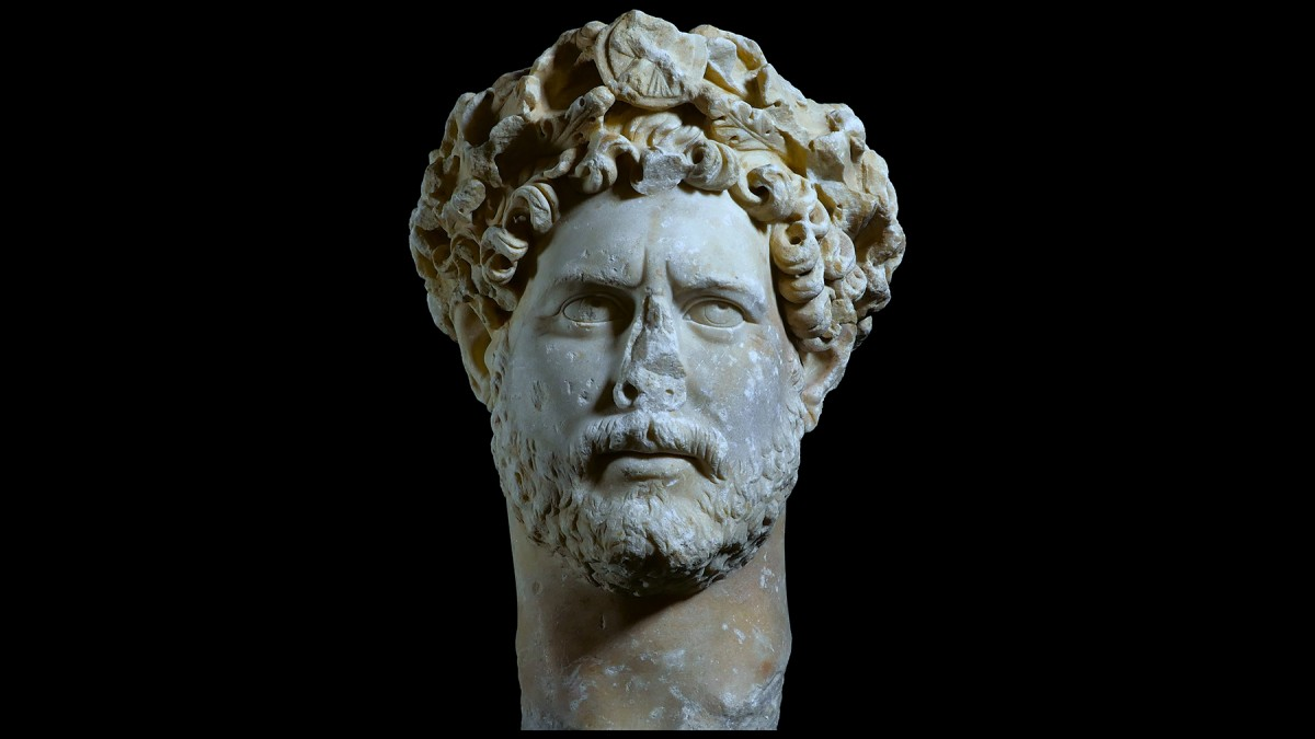 Portrait of Emperor Hadrian found in Syngrou Avenue. National Archaeological Museum (EAM 3729), Athens.