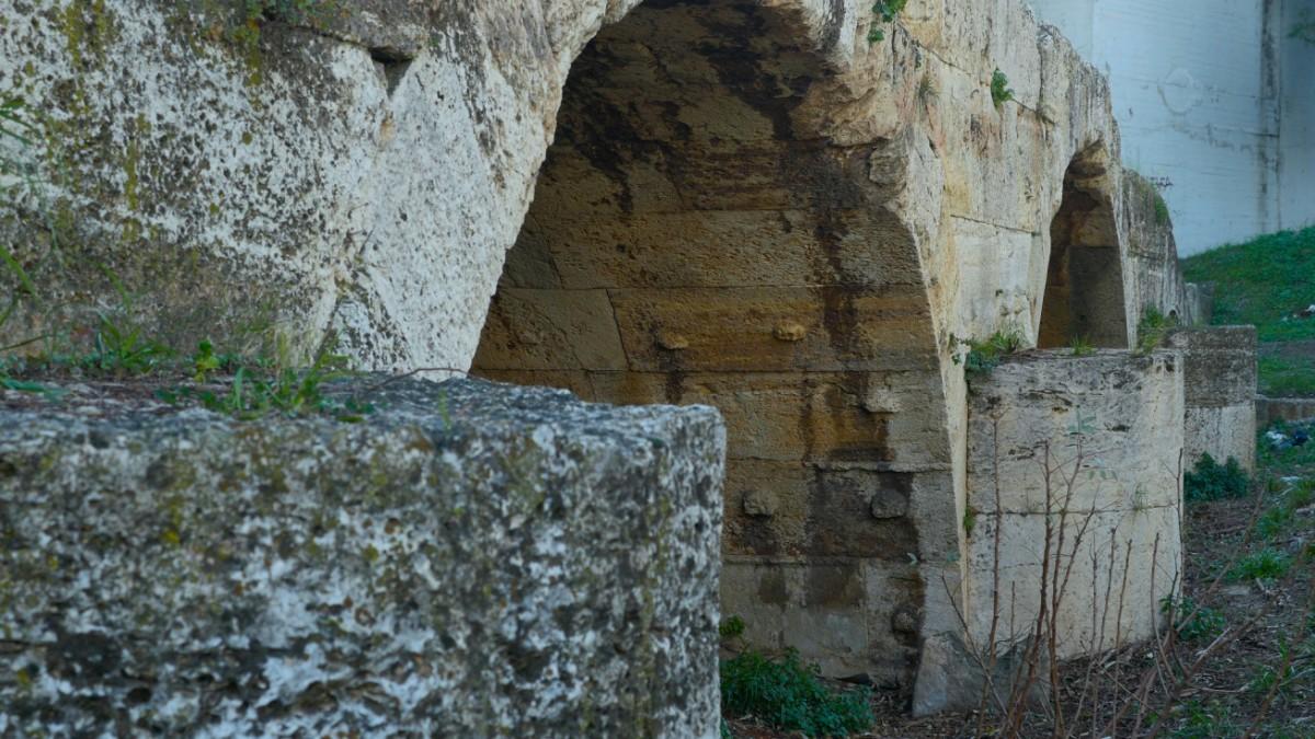 Monumental bridge over the Eleusinian Kephisos River.