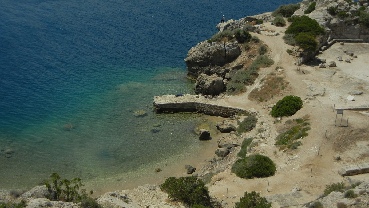One of Greece's most spectacular seaside archaeological sites – Kenchreai, the port of Corinth in southern Greece.