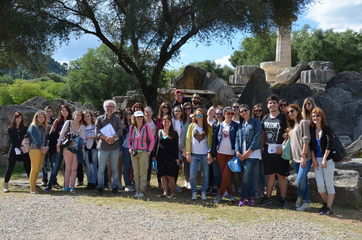 Ancient Olympia. Educational trip with students from the department of History, Archaeology and Social Anthropology, 2014.