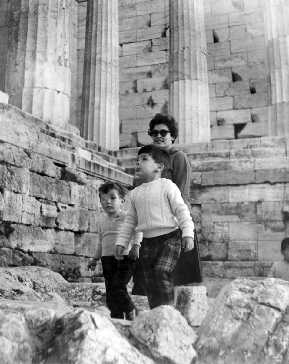 1961. Alexandros Mazarakis Ainian visits the Acropolis for the first time with his mother and older brother.