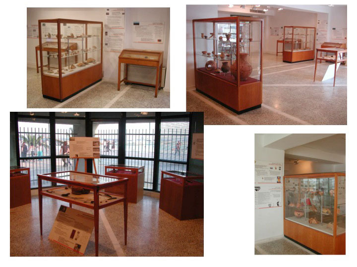 "University of Thessaly. View of Exhibition ""Archaeological Quests"", June 2004 (photo: Alexandros Mazarakis Ainian)."